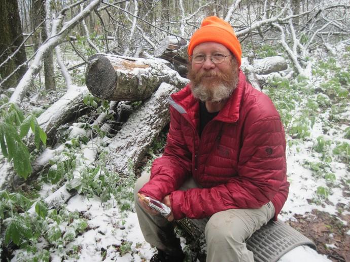 John in the snow