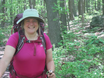 Sandra after two months of hiking