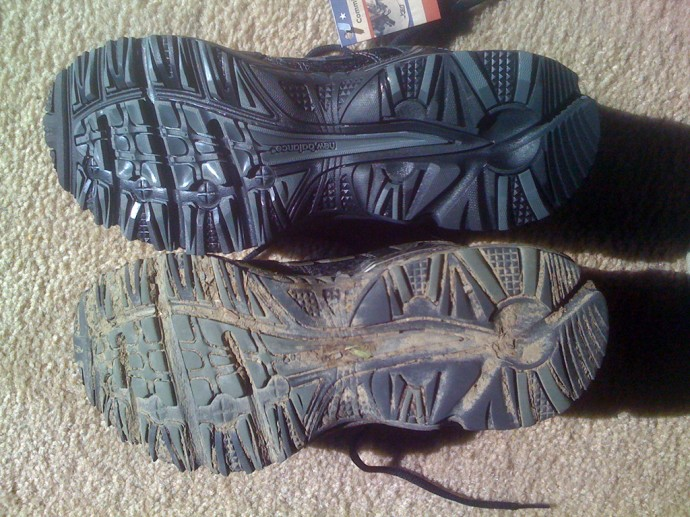 Flattened shoes mean foot injury