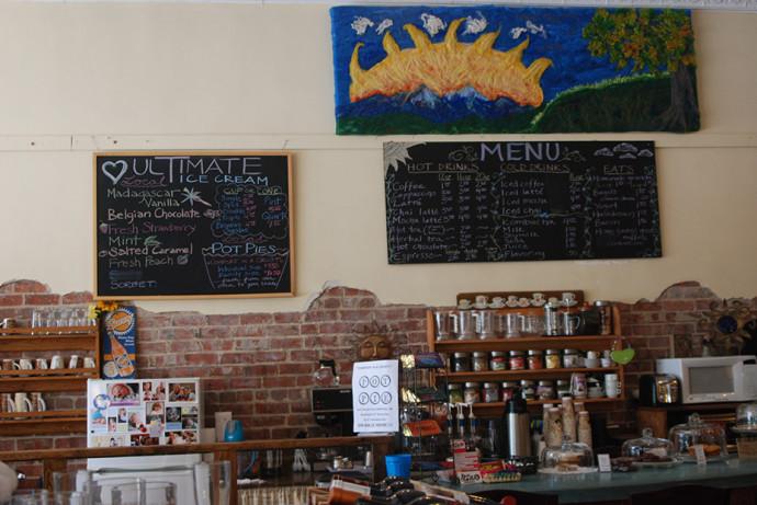 Inside ArtiSun gallery / coffeeshop / ice cream shop