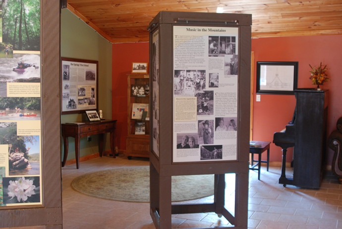 Displays at the new Hot Springs visitor center