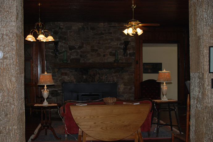 Inside the Laughing Heart Lodge