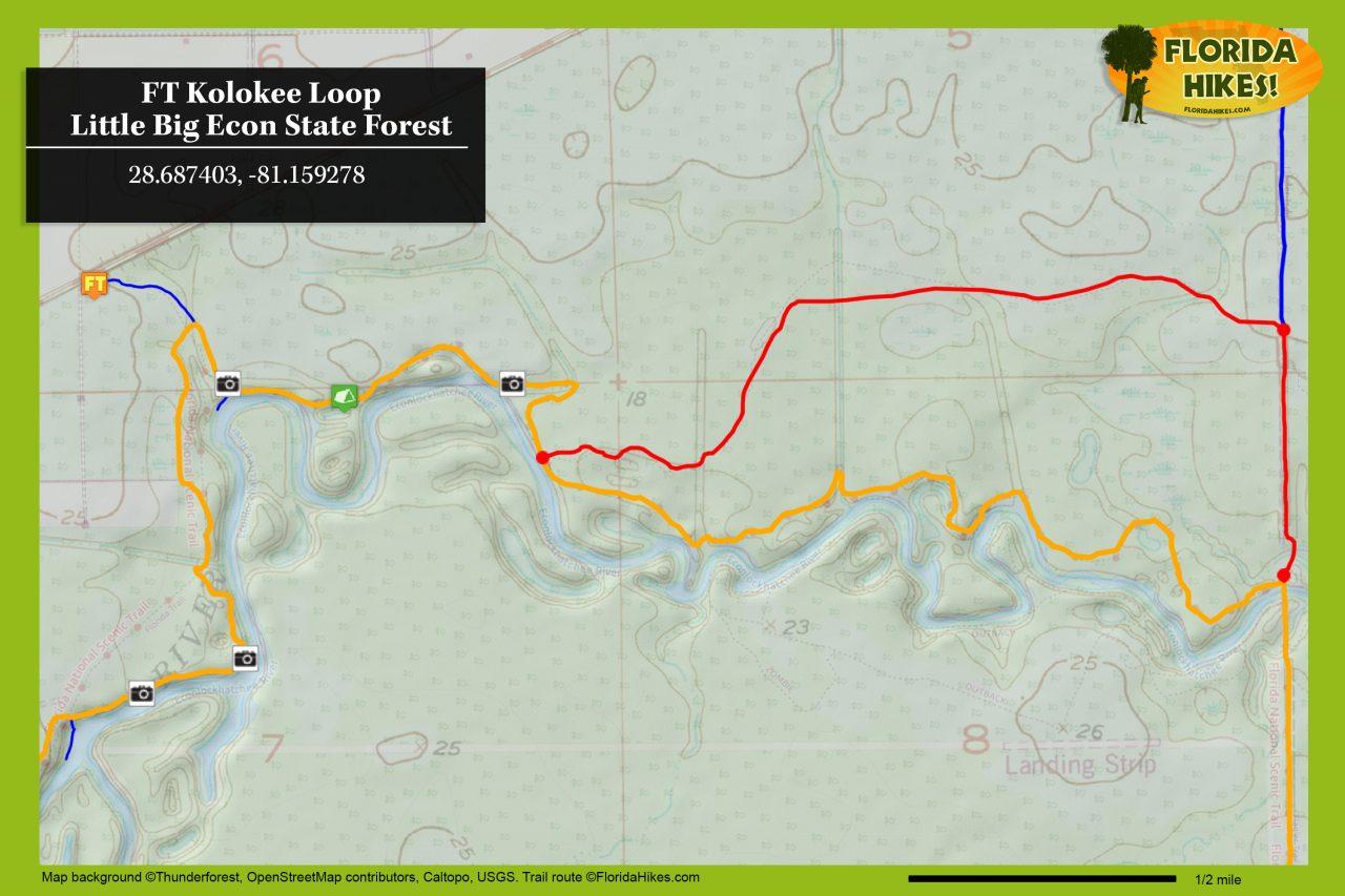 Kolokee trail map