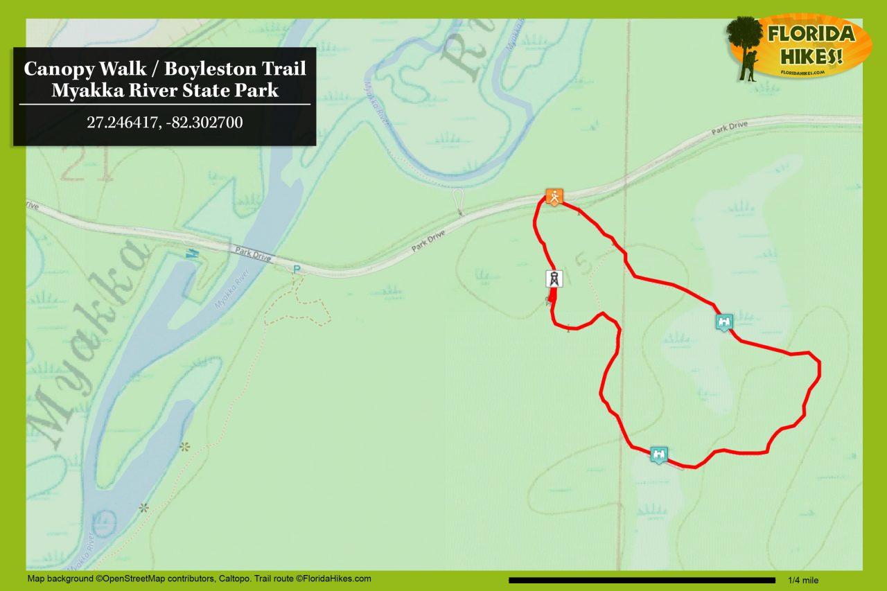 Myakka Canopy Walk trail map