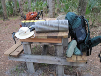 Our backpacks at Seminole State Forest