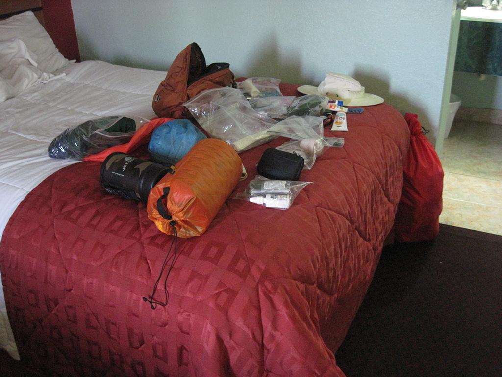 Pack explosion inside the motel room