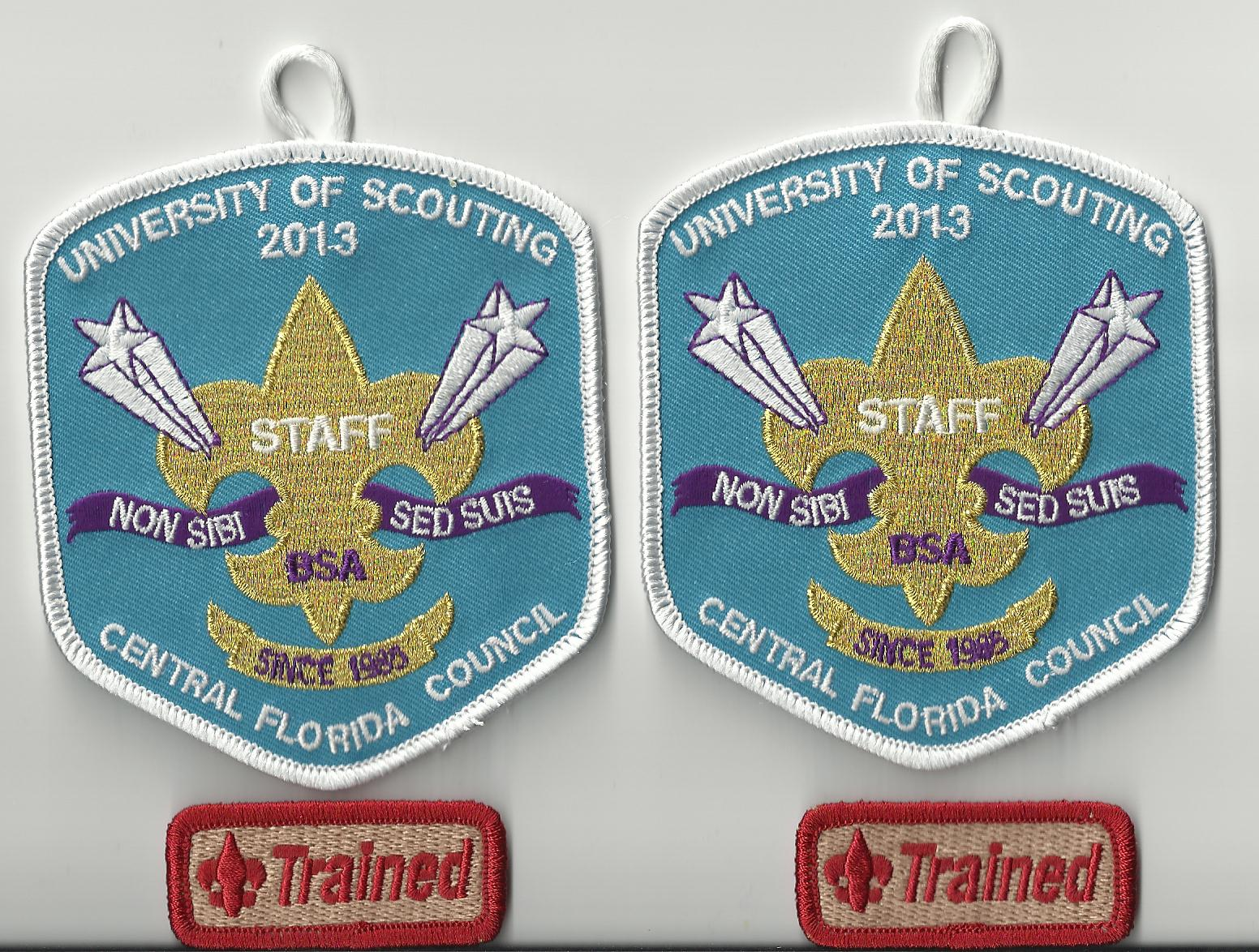 Patches from our dual Scouting endeavors
