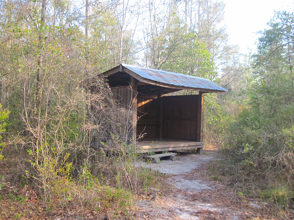 Juniper Creek shelter