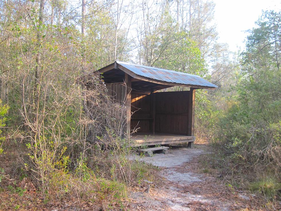Juniper Creek shelter