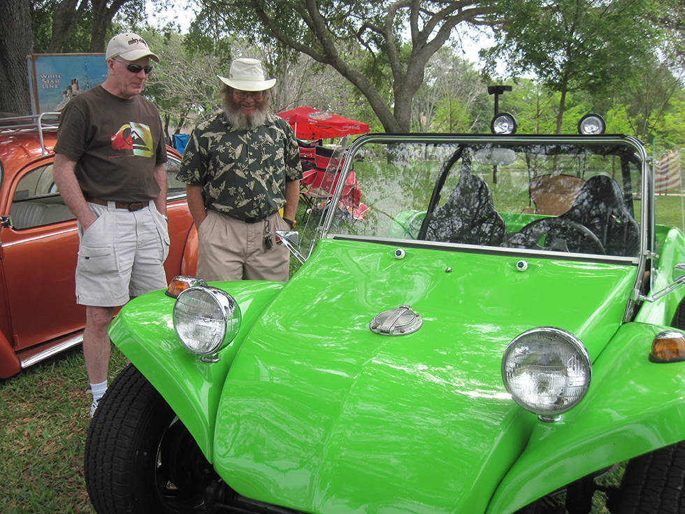 Steve, John, and the dune buggy