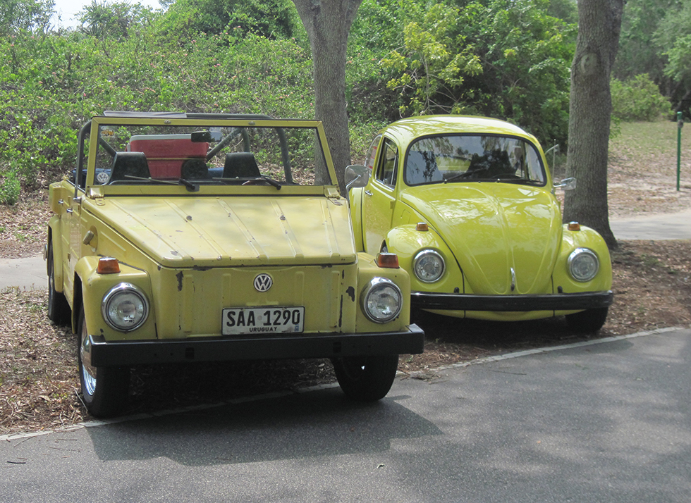 A VW Thing and a Beetle