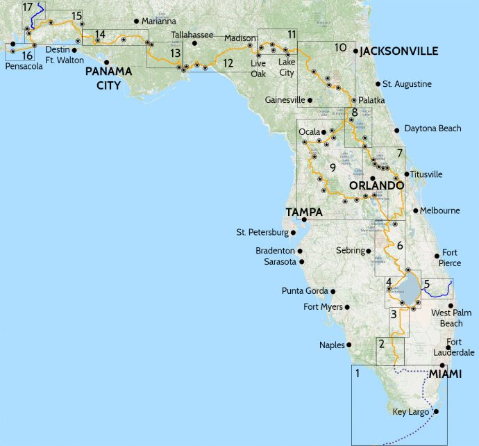 Florida Trail map