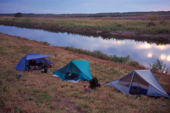 Camping along L-3 Canal