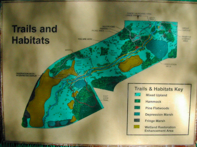 Map of Myakkahatchee Creek Environmental Park