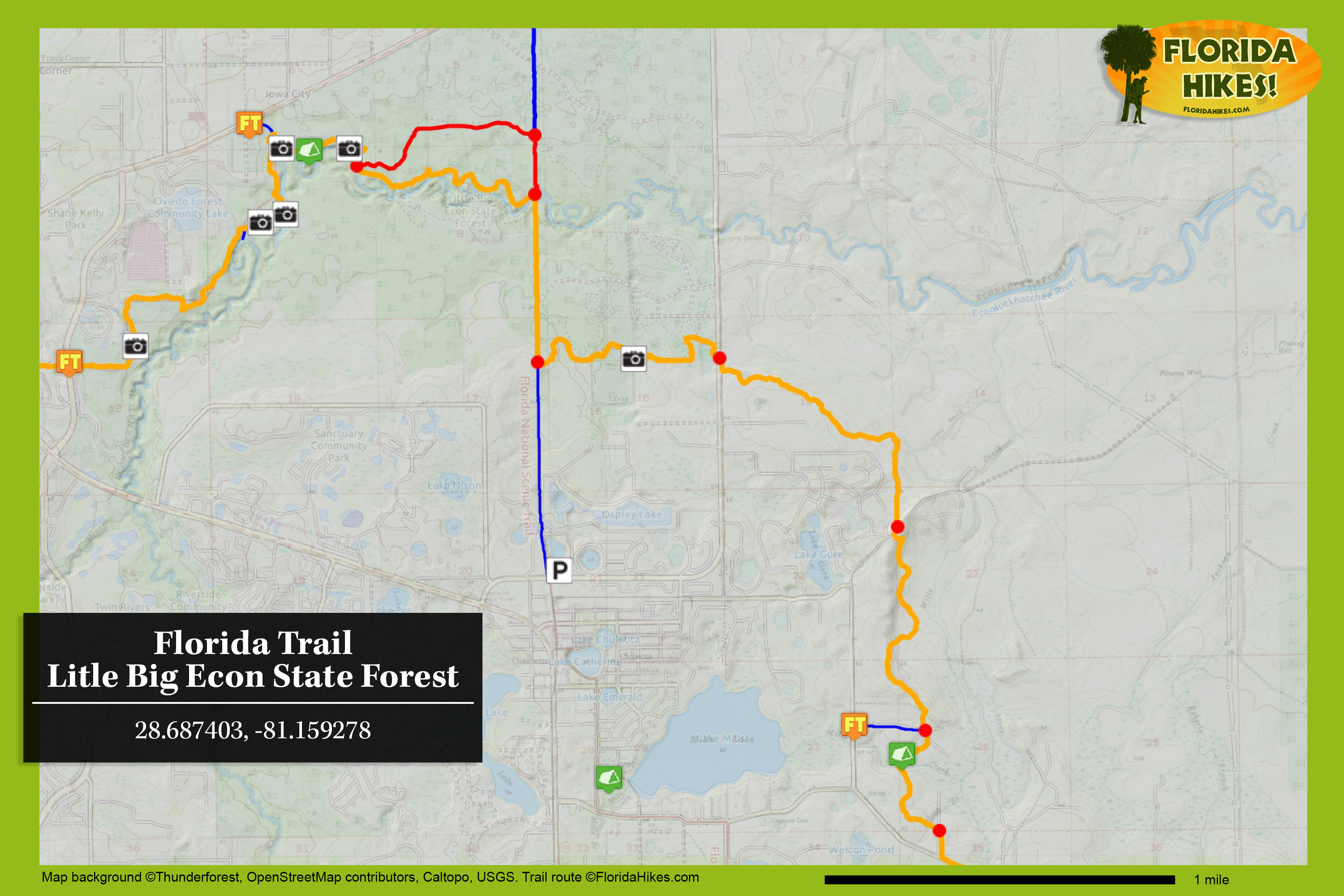 Florida Trail Little Big Econ State Forest Florida Hikes