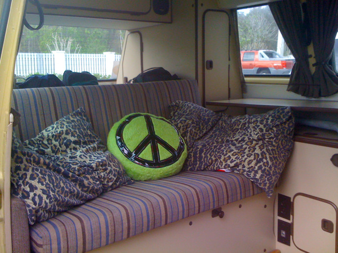 Traveling in style in our 1982 Westy