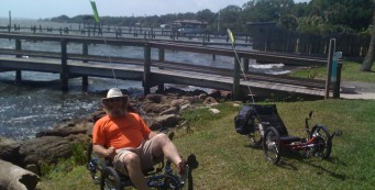 John along Indian River Drive