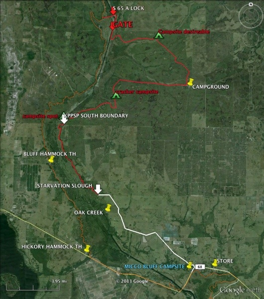 Map of trail relocation