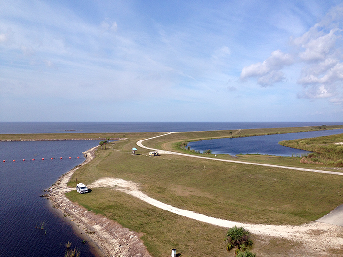 The thin strip that is the Port Mayaca Recreation Area