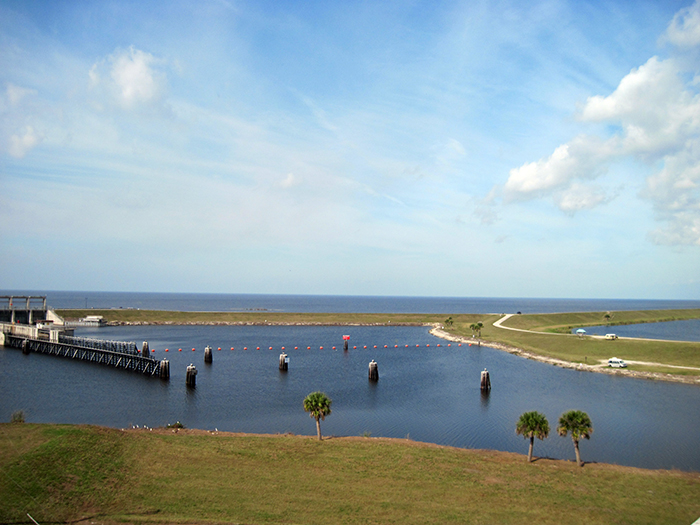 Looking across the St. Lucie Canal to Lake Okeechobee