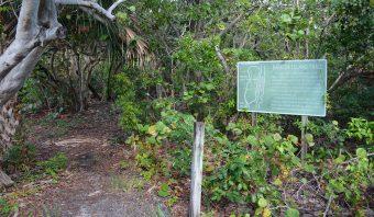Barrier Island Trail sign