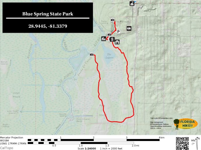 Map Of Springs In Florida.Blue Spring State Park Florida Hikes
