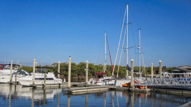 The marina at Caladesi Island