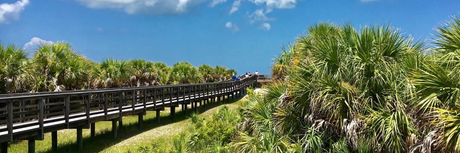 Caladesi Island entry boardwalk