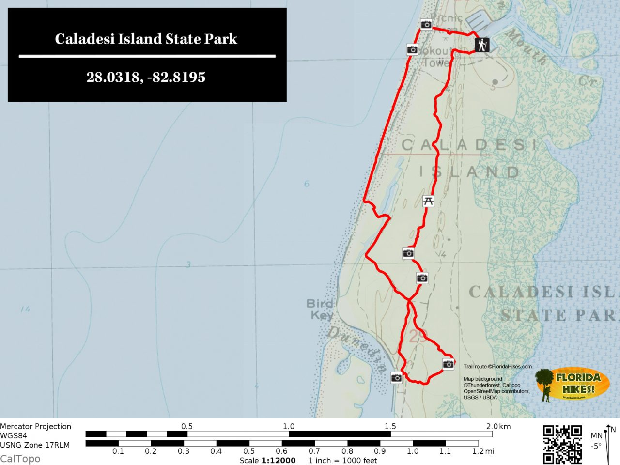 Caladesi Island Trail Map