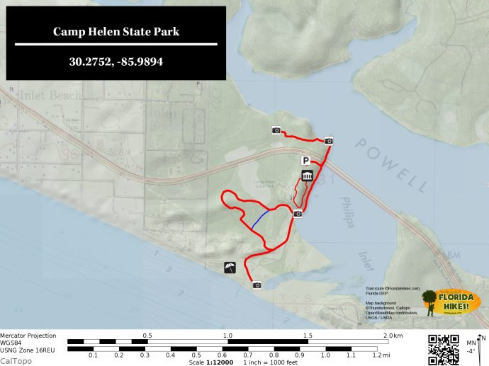Camp Helen State Park Florida Hikes