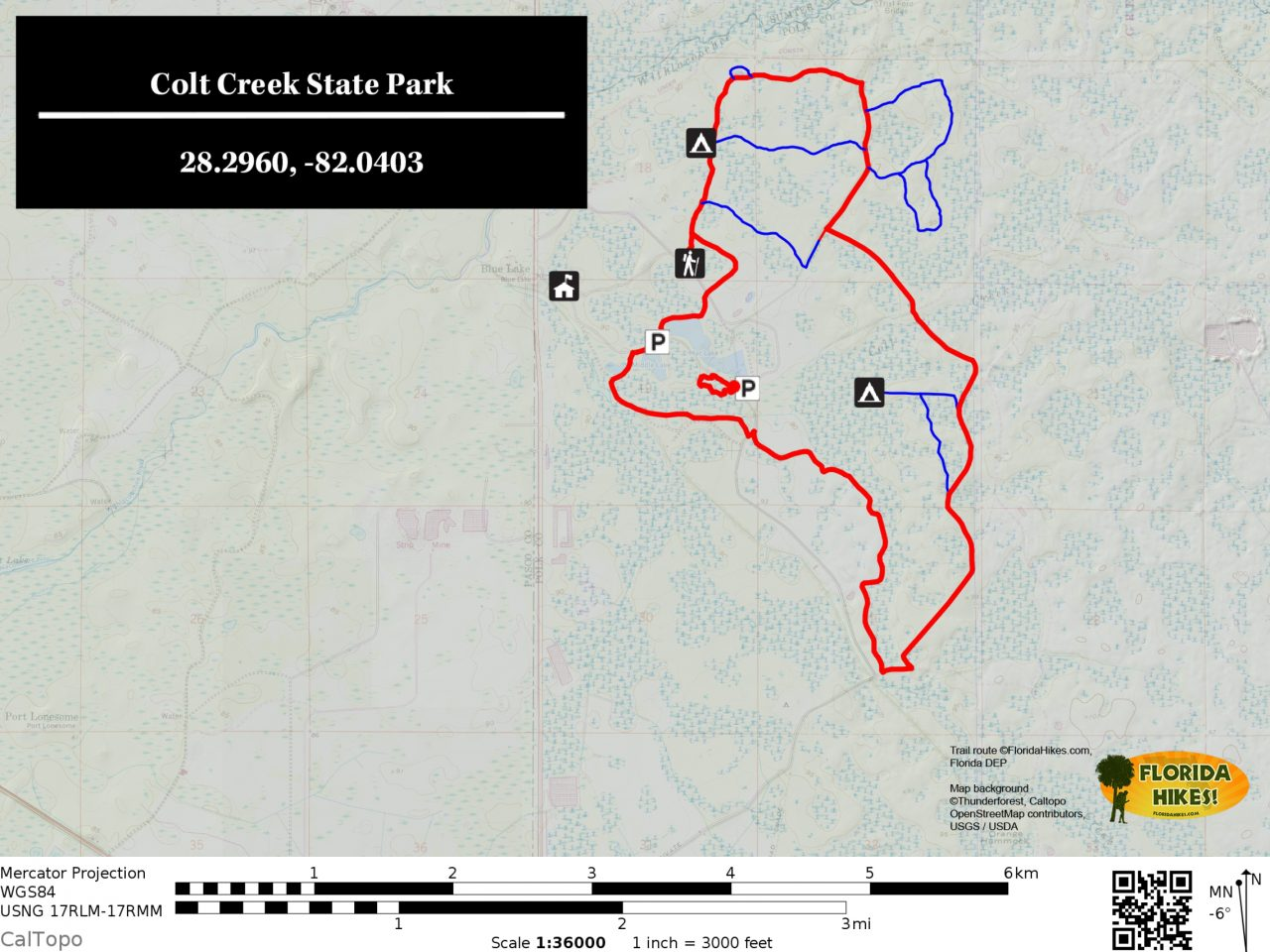 Colt Creek State Park trail map