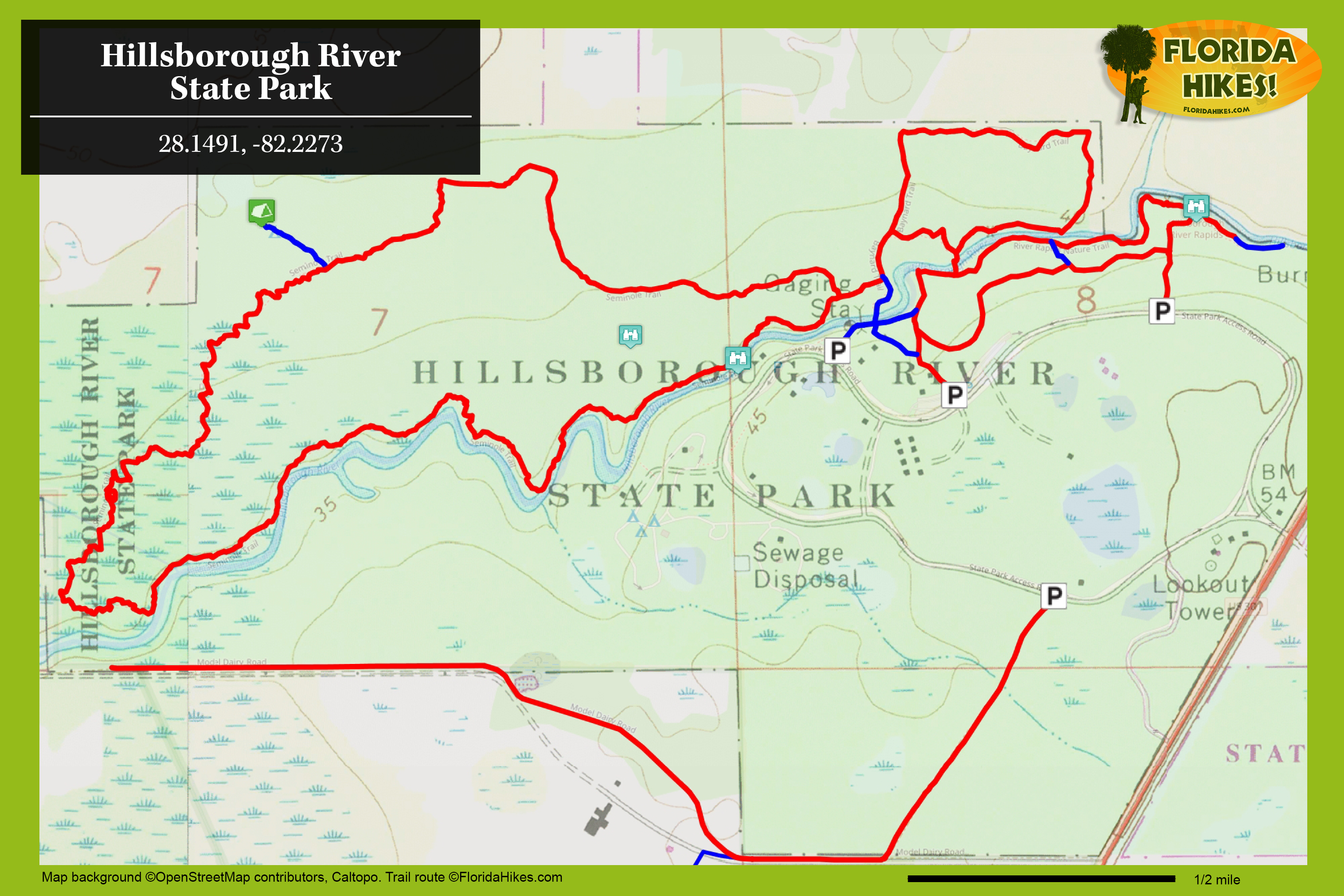 Hillsborough River Hiking Trails | Florida Hikes! on map of brevard county fl, map of indian river county fl, map of new york county ny, map of hillsborough county in florida, map of pasco county fl, map of st lucie county fl, map of manatee county fl, map of greater tampa, map of hillsborough county new hampshire, map of san francisco county ca, map of collier county fl, map of santa rosa county fl, map of jackson county fl, map of glades county fl, map of duval county fl, map of sumter county fl, map of pinellas county fl, map of lake county fl, map of polk county fl, map of st. johns county fl,