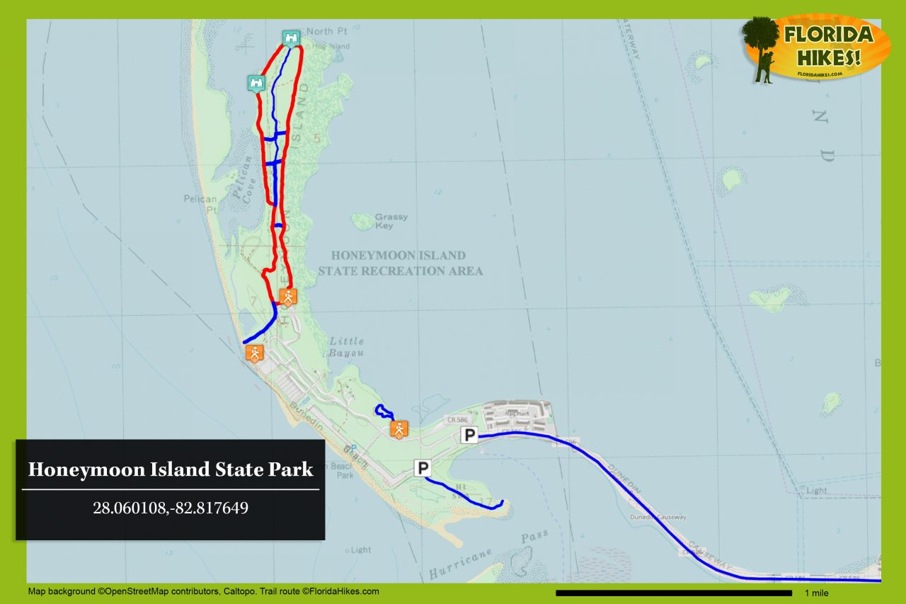 Honeymoon Island trail map
