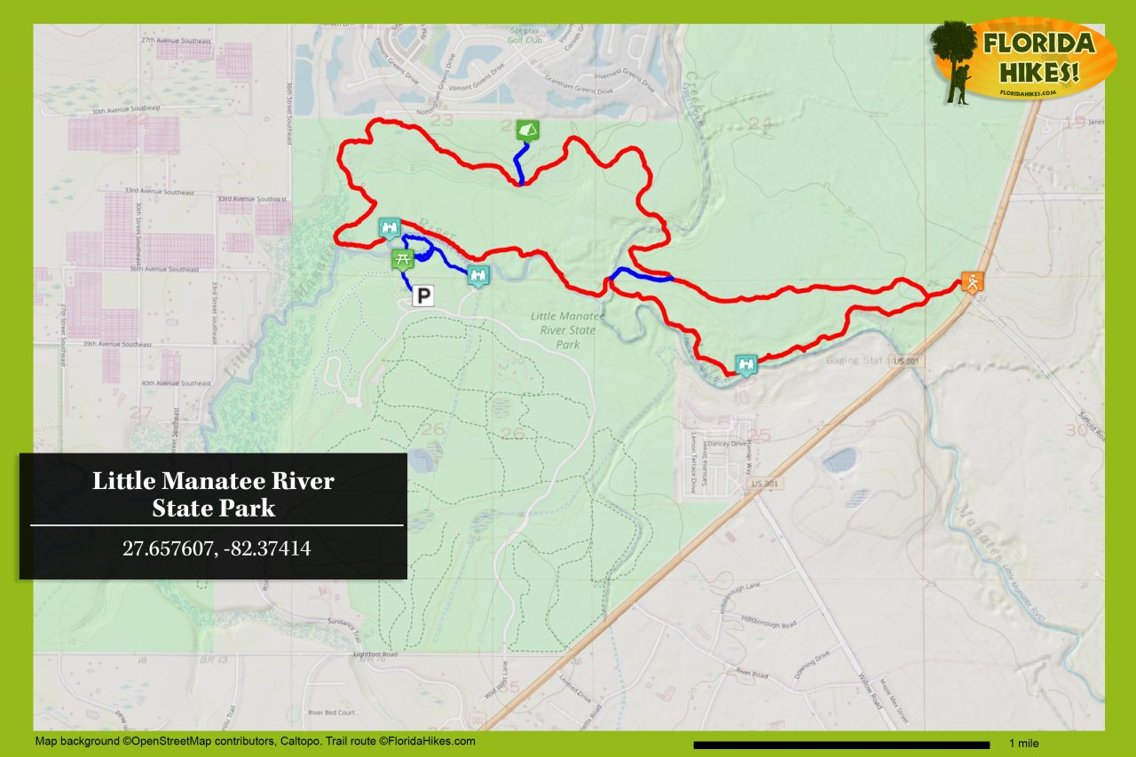 Little Manatee River State Park trail map