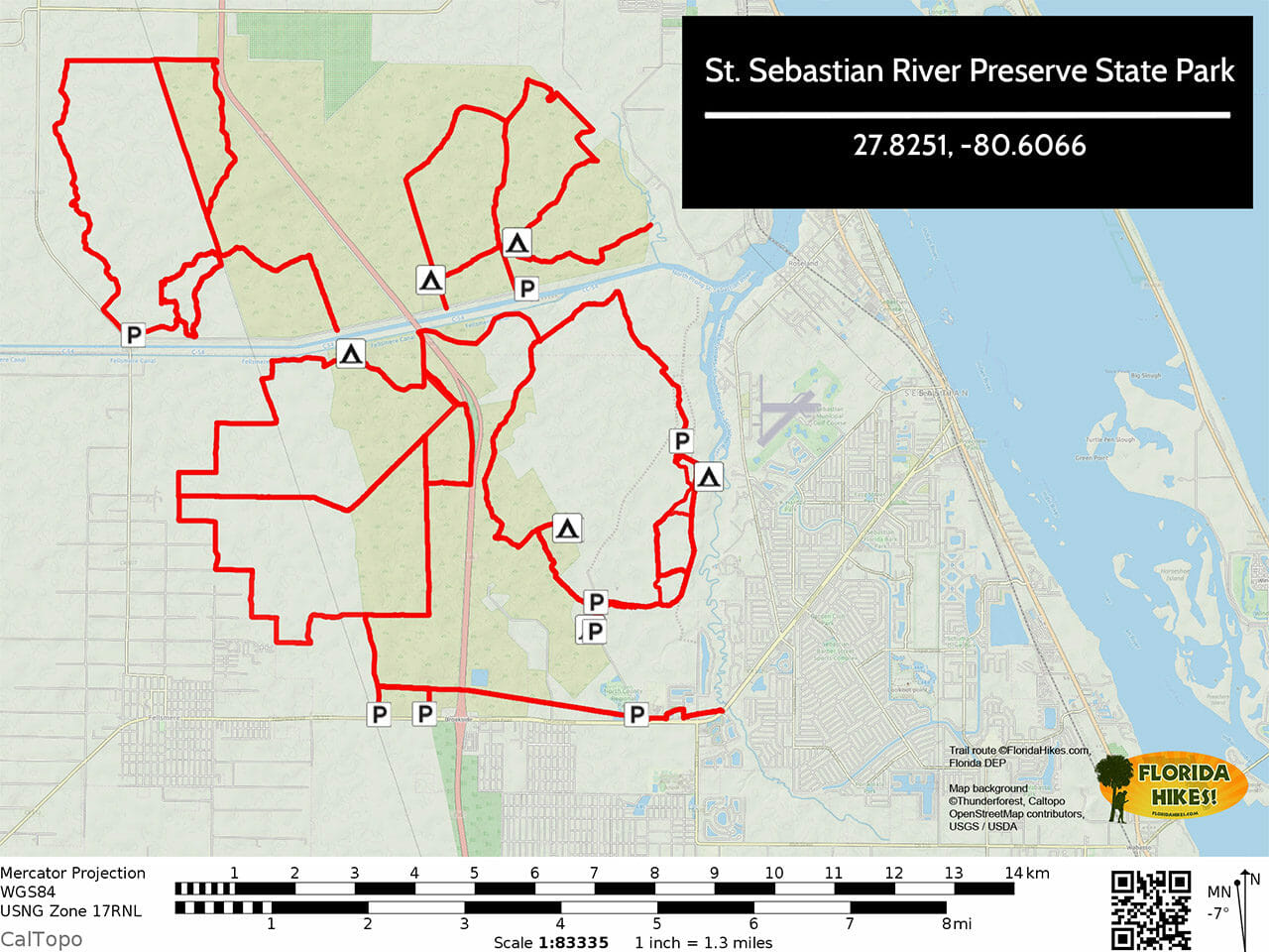 St Sebastian River Preserve Trail Map