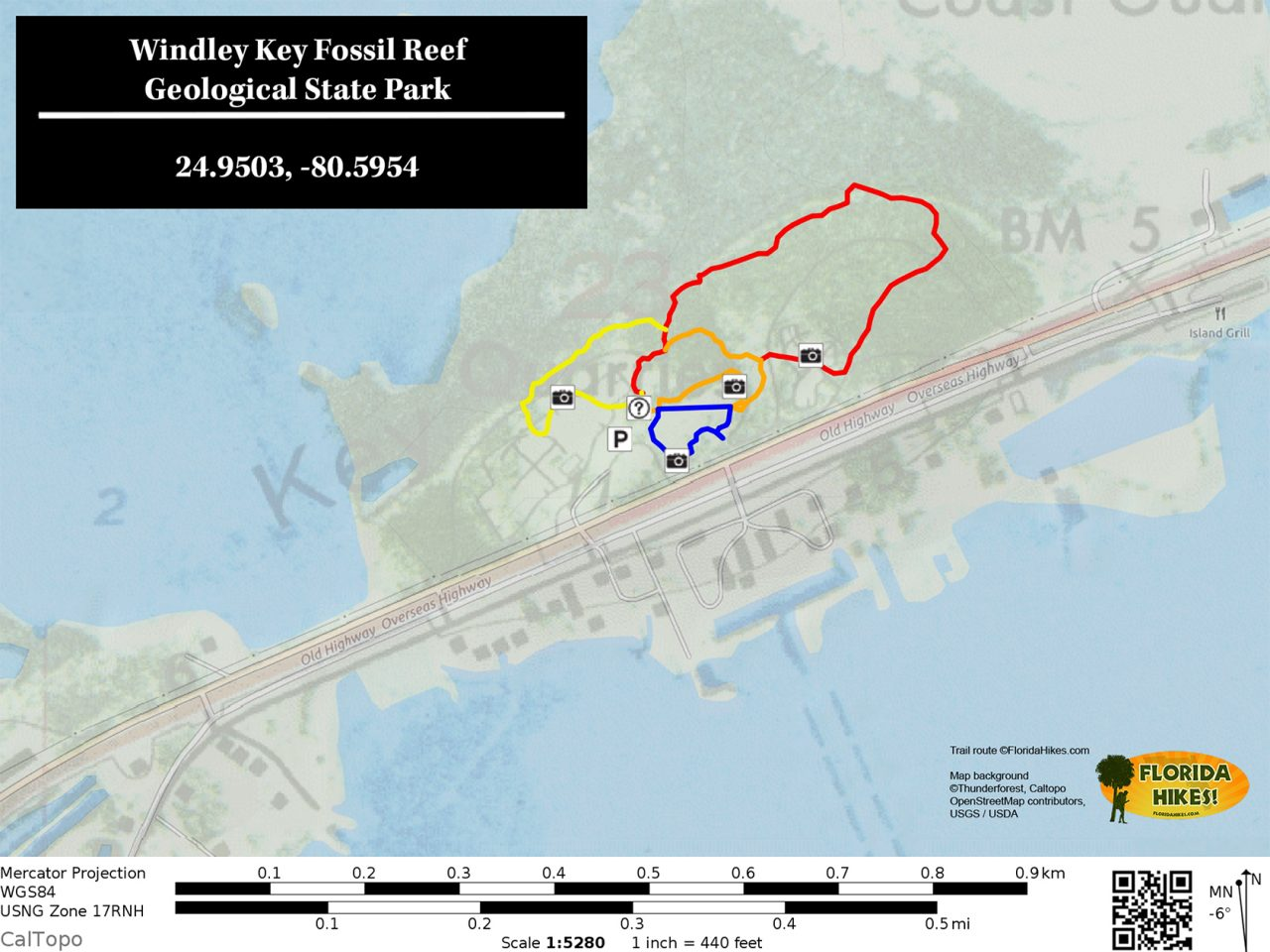 Windley Key State Park Trail Map