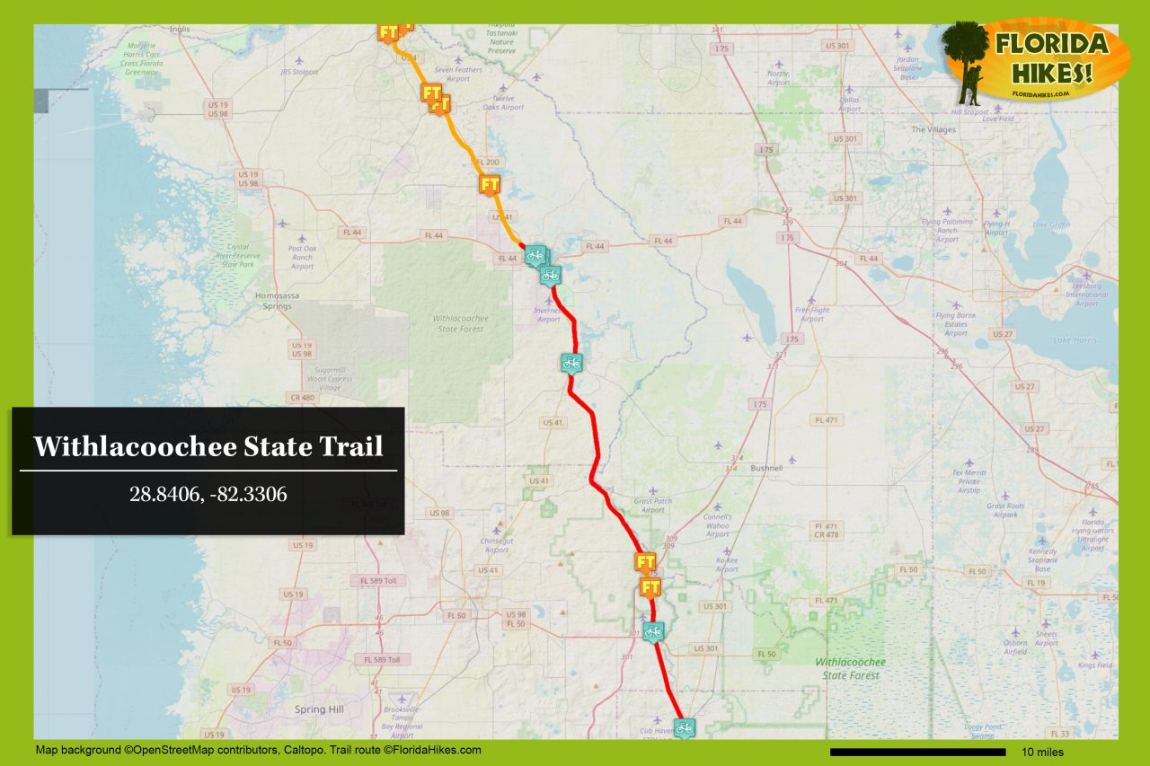 Withlacoochee State Trail map