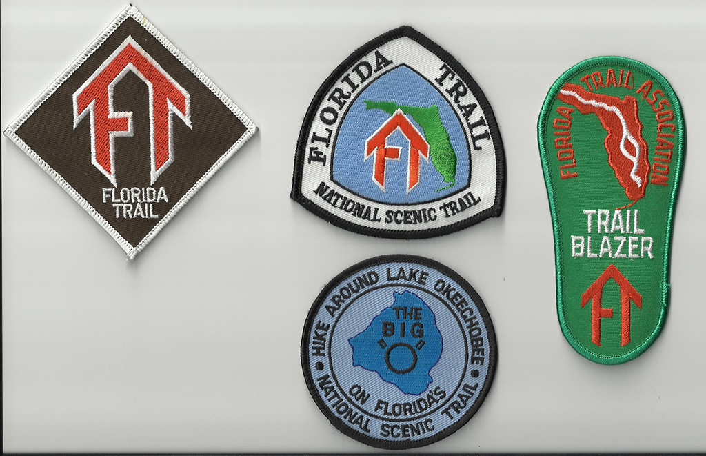 Florida Trail, FNST, Big O Hike, and small FTA Trailblazer patches