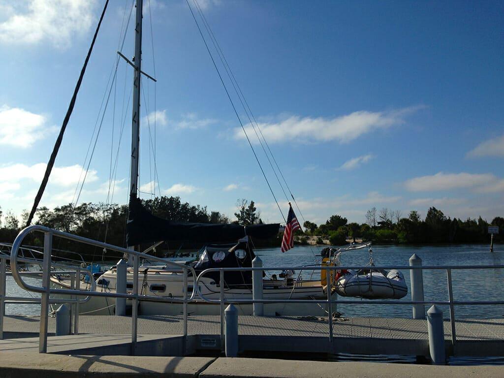 Sailboat at Bairs Cove