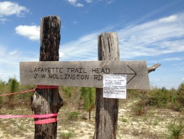 Lafayette Trailhead closure notice