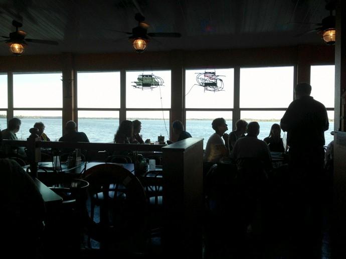 Dining along Lake Harris