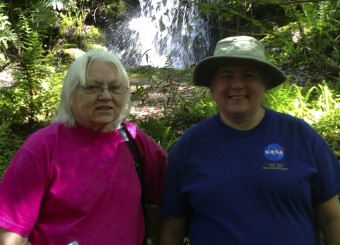 Me and mom in the old aviary, 2014