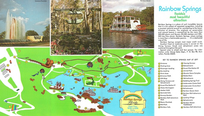 1970s Rainbow Springs brochure