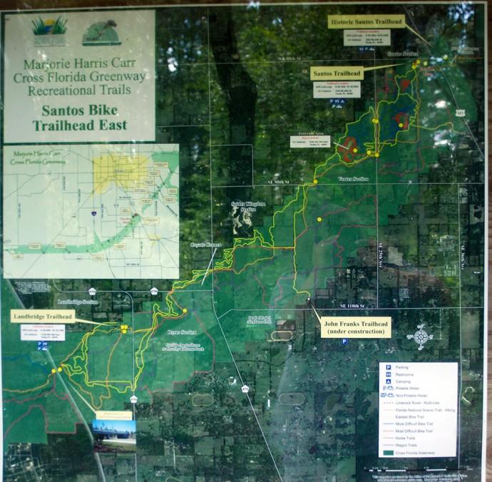 Santos Trails map