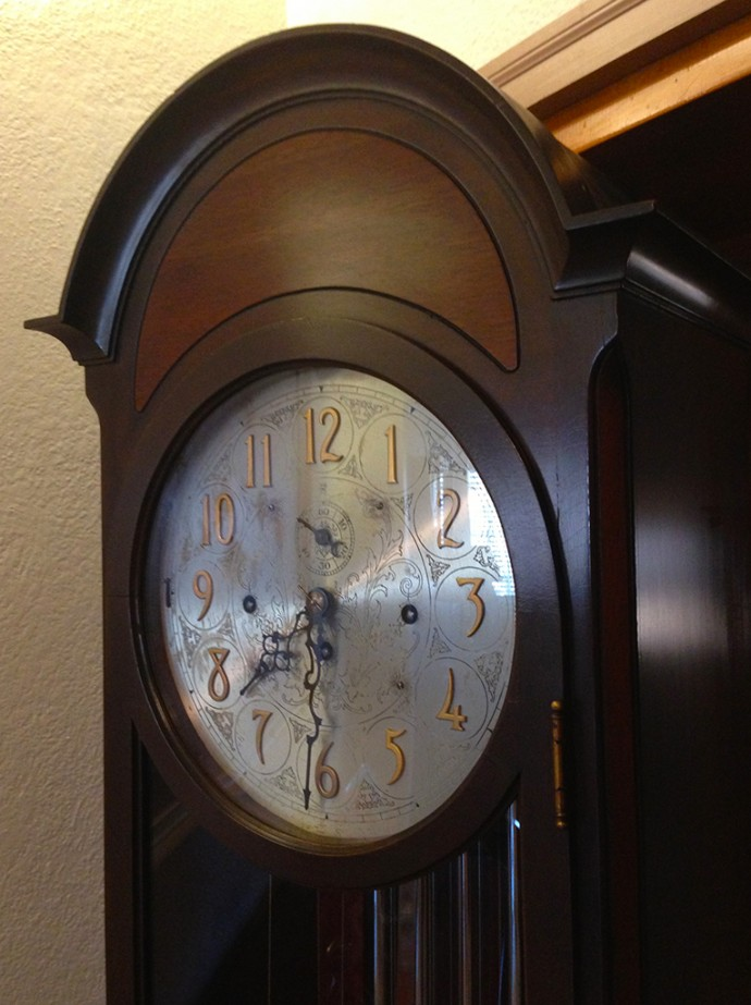 A clock with character
