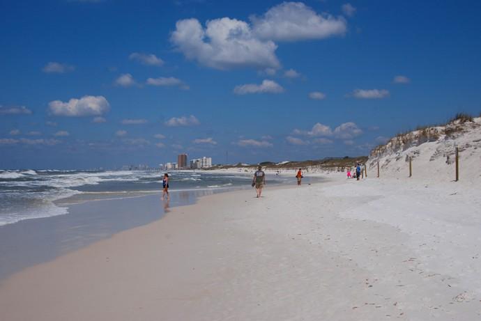 Gulf side of Jetty Beach