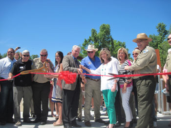 Ribbon cutting on the new Dunnellon Trail