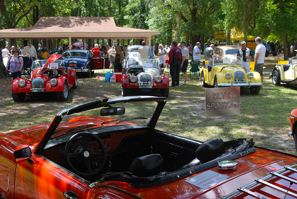 At the annual British Car Show in Mead Garden