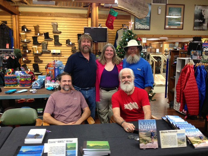 Hanging out with fellow Hiker Trash at Travel Country Outdoors