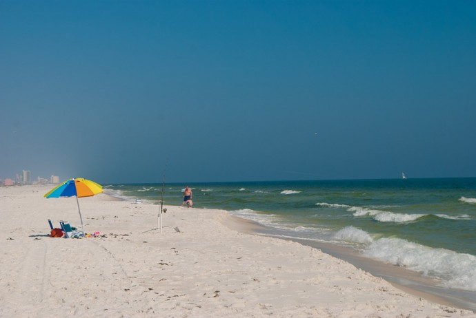 Beach At Fort Pickens